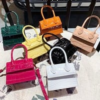 Mini Small Square bag Fashion New Quality PU Leather Women's Handbag Crocodile pattern Chain Shoulder Messenger Bags
