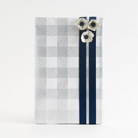 Silver Foil Plaid Wrapping Paper