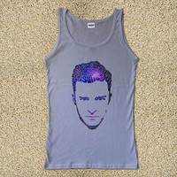 Justin Timberlake Typography Galaxy for Tank Top Mens and Tank Top Girls