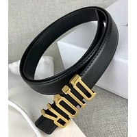 Dior women's belt business casual black belt simple and generous
