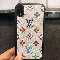 LV Louis Vuitton Newest Popular Retro Mobile Phone Cover Case For iphone 6 6s 6plus 6s-plus 7 7plus 8 8plus X XsMax XR White LV Print