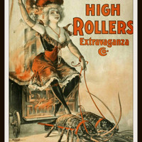 Printed Vintage High Roller Ad Poster Art Image Reproduction Unframed
