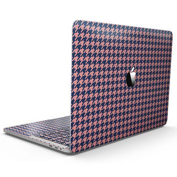 Navy and Coral Houndstooth Pattern - MacBook Pro with Touch Bar Skin Kit
