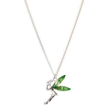 Tinkerbell Inspired Silver-plated Necklace