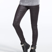 FULL TILT Ethnic Embossed Womens Leggings 249082100 | Leggings
