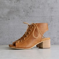 sbicca footwear - hogan minimal lace up heel