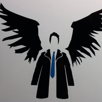 Supernatural Castiel Decal by AllonsyCreations on Etsy