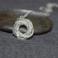 love knot necklace, anniversary necklace, sterling silver eternity necklace, infinity necklace, silver ring necklace, gifts for her