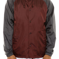 The Hoover Jacket in Burgundy & Charcoal