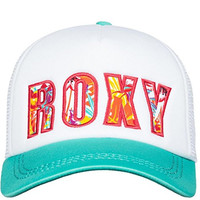 Roxy Womens Snap Back Adjustable Hat One Size White
