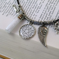 Supernatural Inspired Devil's Trap Charm Necklace