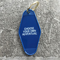 Adventure Hotel Key Fob in Navy