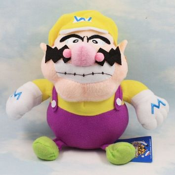 Super Mario party nes switch 1PCS  wario Plush Doll Toys 18 cm Stuffed standing Wario plush doll toy for children Christmas gift AT_80_8