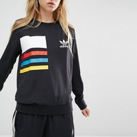 Adidas | adidas Originals Primary Colour Block Chiffon Sweatshirt at ASOS