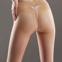 Women Sexy 3D Shiny Glossy Pantyhose Stockings See Through Tights thin Underwear