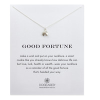 Good Fortune Cookie Necklace, Sterling Silver | Dogeared