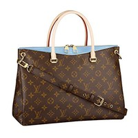 Louis Vuitton Monogram Canvas Pallas Bleu Ciel Handbag Article: M41467 Made in France