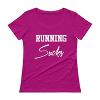 Running Sucks Burnout T-shirt Top