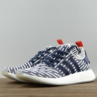 Adidas NMD Women Men Fashion Edgy Stripe Sneakers Sport Shoes