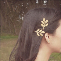 1 Piece Boho Godness Gold Leaf Hair Cuff Clip Headband Hairpin Accessory Goth Punk_trq = 1917057284