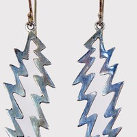 Sterling Silver Grateful Dead Lightening Bolt Earrings
