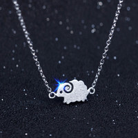 Fashion tiny sheep 925 sterling silver necklace, a perfect gift !