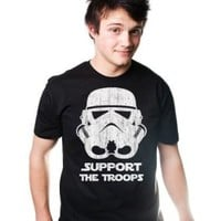 SUPPORT THE TROOPS T-Shirt Funny Storm EMPIRE TEE TROOPER Wars New Movie Star