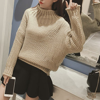 Fashion Loose Brief Paragraph  Long Sleeved Sweater