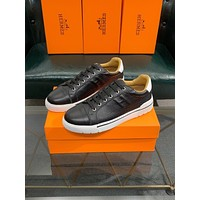 HERMES  Men Fashion Boots fashionable Casual leather Breathable Sneakers Running Shoes0424cx