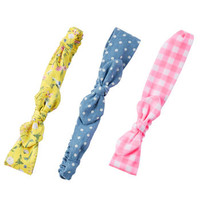 3-Pack Knot Bow Headwraps