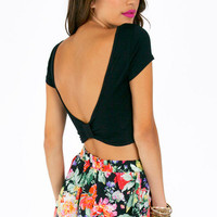 Scooping Back Bow Crop Top $22