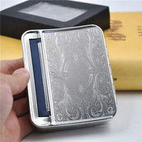 1 X Silver Metal 78mm Automatic Cigarette Tobacco Roller Rolling Machine Box Case For 78mm Papers