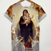 Mary and Jesus all over t shirt
