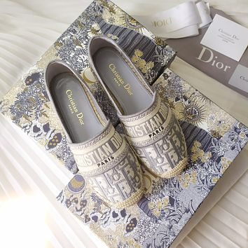 DIOR New color embroidered fisherman's shoes
