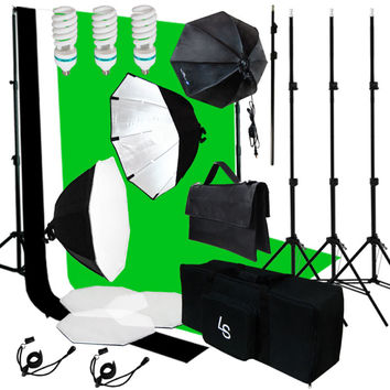 3pcs Muslin Background Support Kit 3 Softbox Photo Video Lighting Studio Set Kit
