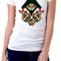 Women's Graphic Tees | Middle Fingers Up | Formation | Sublimated Shirts