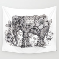 """""""Anesh the Creative Elephant"""" Wall Tapestry by Cindy Lysonski (Cicy)"""