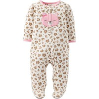 Child of Mine by Carter's Newborn Baby Girl Microfleece Sleep N Play - Walmart.com