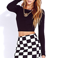 Edgy Faux Leather Crop Top