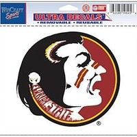 """Florida State Seminoles Removable 5""""x6"""" Car Decal"""