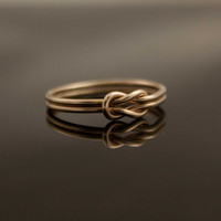 Solid 14K Gold Infinity knot ring Hug ring Alternate wedding ring, engagement, committment promise ring sister ring nautical jewelry karat