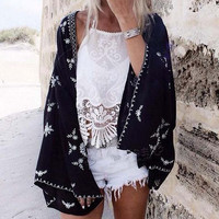 Fable Lace Duster in Black