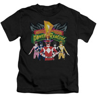Power Rangers Rangers Unite Black Kids T-Shirt