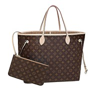 eLVe Toile Damier Neverfull GM Tote bag Shoulder Large N41357 N51106
