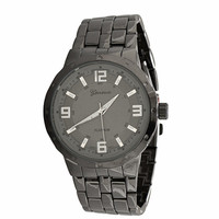 Men's Gunmetal Watch with Large 47mm Round Face