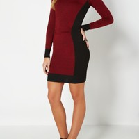 Red Marled Hourglass Bodycon Dress | Body Con Dresses | rue21