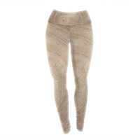 "Susan Sanders ""Aging Tree"" Wooden Yoga Leggings"