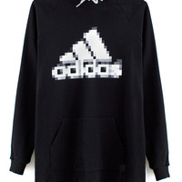 PIXELATED ATHLETIC BRAND HOODIE