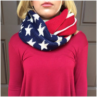 Old American Thick Knit Infinity Scarf - Old American Thick Knit Infinity Scarf