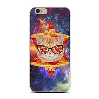 for iPhone 5/5S - Super Slim Case - Pizza Cat - Funny Cats - Cat Lover - Pet Lover - Galaxy Cats (C) Andre Gift Shop